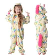 Zima Kigurumi dzieci jednorożec piżamy Stitch Panda Onesie piżamy dla chłopców dziewcząt zwierząt piżamy flanelowe piżamy dzieci Pijama tanie tanio YSOYOK Poliester Cartoon Kids Pijamas Unisex Pasuje prawda na wymiar weź swój normalny rozmiar Blanket Sleepers licorne