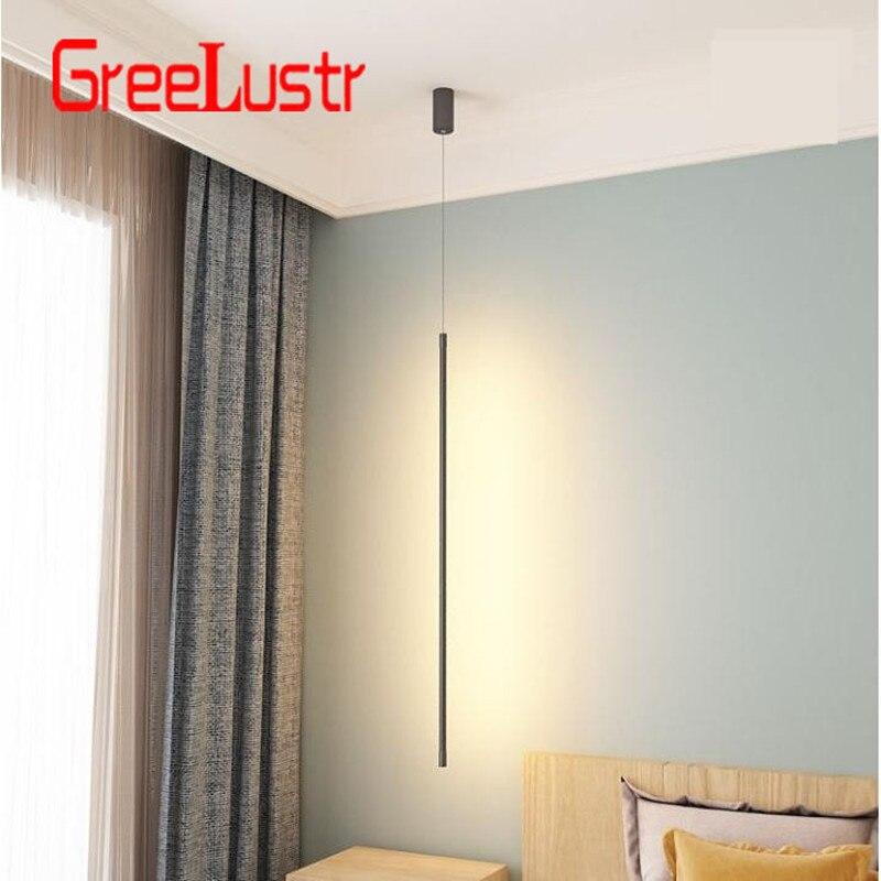 Nordic Minimalistischen Schlafzimmer Nacht Anhänger Leuchtet Moderne Wohnzimmer Anhänger Lampe Linie Licht Kreative Atmosphäre LED Hängen Lampe - 4