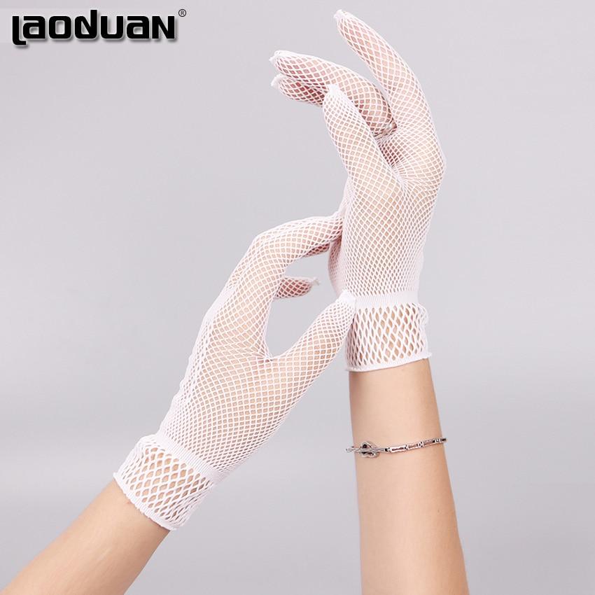 1 пара, хит продаж, сетчатые перчатки в сеточку, Модные женские перчатки для девушек, кружевные Элегантные женские стильные перчатки, черные и белые|mesh gloves|girls glovesfashion gloves | АлиЭкспресс