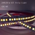 2021 Новый осветительная панель для телевещания с высоким CRI 95 + 240 светодиодный/m CCT Светодиодные ленты светильник 2835 Ширина 10 мм не обладает во...