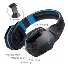 Kotion 각 B3505 무선 블루투스 4. 1 스테레오 게임용 헤드폰 이어폰 게이머 헤드셋 마이크 HiFi 음악 헬멧