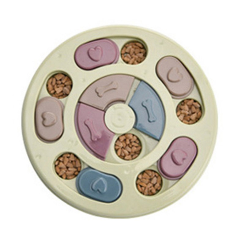 Dog Food Slow Feeding Disc Anti-choking Round Feeder Plastic Interactive Puzzle Toy High-quality Material