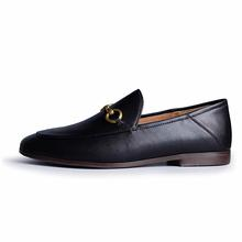 Women's Luxury Leather Loafers Women Slip-on Flats Shoes Round Toe Outdoor Mules Comfort Loafer Ladies Handmand Work Shoes 2021
