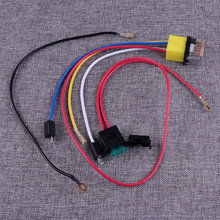 DWCX Universal 12V Auto Accessories Electric Air Horn Relay Wiring Harness Connector Set Fit for Car Truck Van