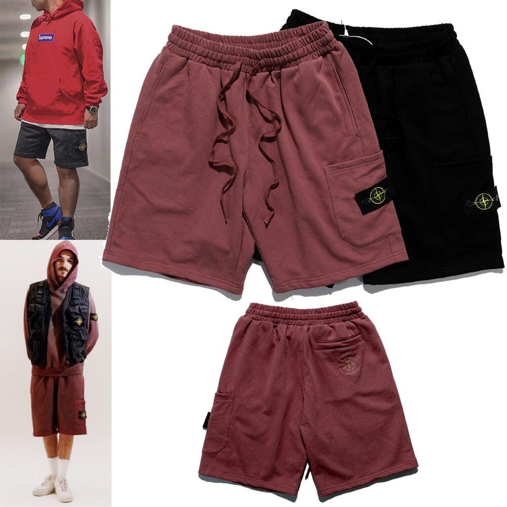 2021 весной и летом вышитые компас логотип сбоку шорты с карманами; Брюки; Модные мужские брюки больших размеров для мужчин и женщин шорты для ...