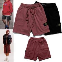 2021 primavera e verão bordado bússola logotipo lado bolso shorts na moda calças masculinas e femininas shorts