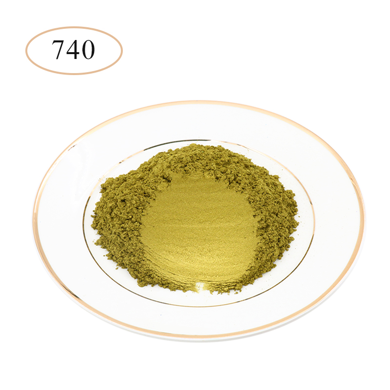 Pearl Powder Coating Natural Mineral Mica Dust Type 740 Pearlized Pigment DIY Dye Colorant 10/50g For Soap Eye Shadow Car Crafts