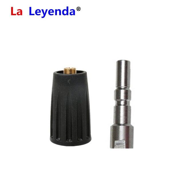 LaLeyenda G1/4 Adapter z mechanizmem szybkiego uwalniania zestaw myjnia samochodowa ciśnieniowy oczyszczacz pistolet do piany akcesoria do garnka dla włoskiego Nilfisk Alto/Kew woda