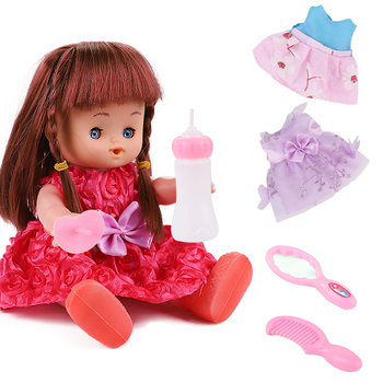 Newborn bebe doll reborn toddler 10 inch Plastic reborn baby dolls Cute body lifelike girl Toys Children Birthday gifts doll warkings reborn