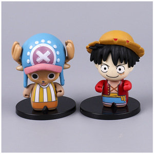 Image 3 - 6pcs/set Pirate King Doll Car Ornament Decoration Car Accessories for Girls Interior Pendant Hand Model Luffy Sanji Nami Chopper