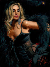 100%Handmade Sexy Woman Portrait Art Modern Oil Painting on Canvas for Wall Decoration Fabian Perez Lori with Black Hat Painting(China)