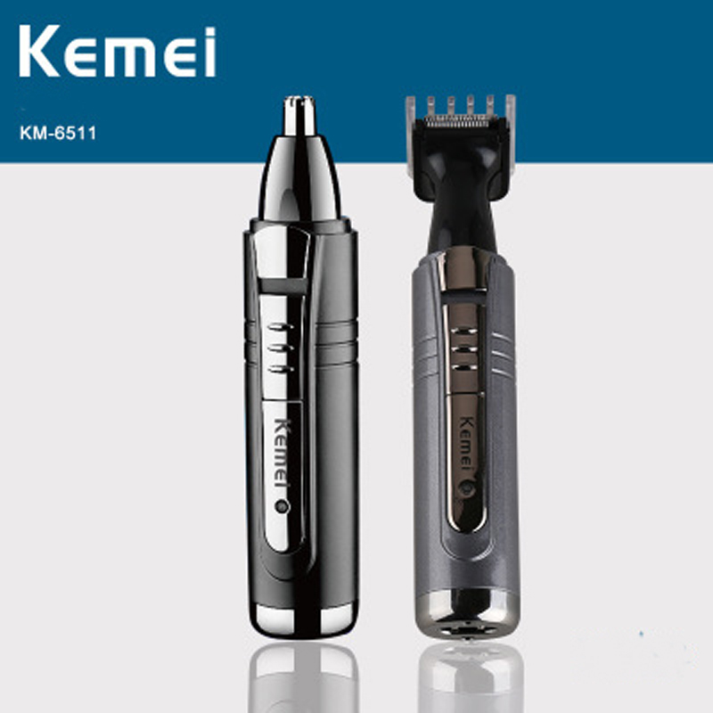 Kemei Electric Nose and Ear Trimmer 2 In 1 Face Care Hair Trimmer for Men Personal Care Tools Small Clipper with Cutting Guides