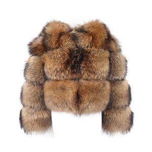 Image 5 - ROSA JAVA QC1884 neue ankunft echt waschbär pelz frauen pelz jacke winter luxus flauschigen waschbären mäntel heißer verkauf