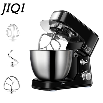 JIQI 4L Stainless Steel Bowl Electric Stand Food Mixer Cream Blender Knead Dough Cake Bread Chef Machine Whisk Eggs Beater EU US