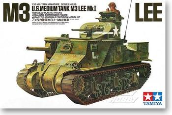 Tamiya 35039 1/35 WWII US Medium Tank M3 Lee Mk1 Military Display Collectible Toy Plastic Assembly Building Model Kit недорого