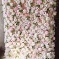 Corredor de mesa con arco enrolladas para pared flores rosas, decoración artificial y floral, envío gratis