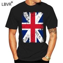 Union Jack T-Shirt Distressed Grunge Vintage Uk British Flag Great Britain Popular Tagless Tee Shirt