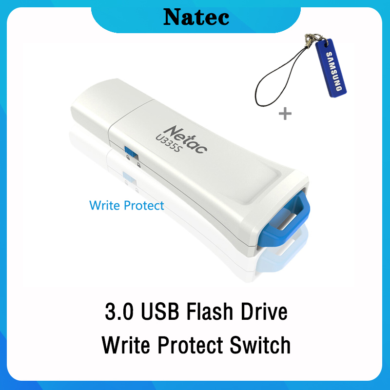 Netac Pendrive 128gb 64gb Write Protect Encrypted USB Flash Drive 32 16 GB Pen Drive 3.0 USB Stick Disk On Key Memory For Phone