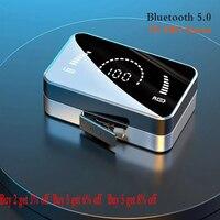 Auriculares TWS inalámbricos por Bluetooth Estéreo HiFi, deportivos, impermeables, con micrófono, para música y videojuegos, para todos los teléfonos inteligentes