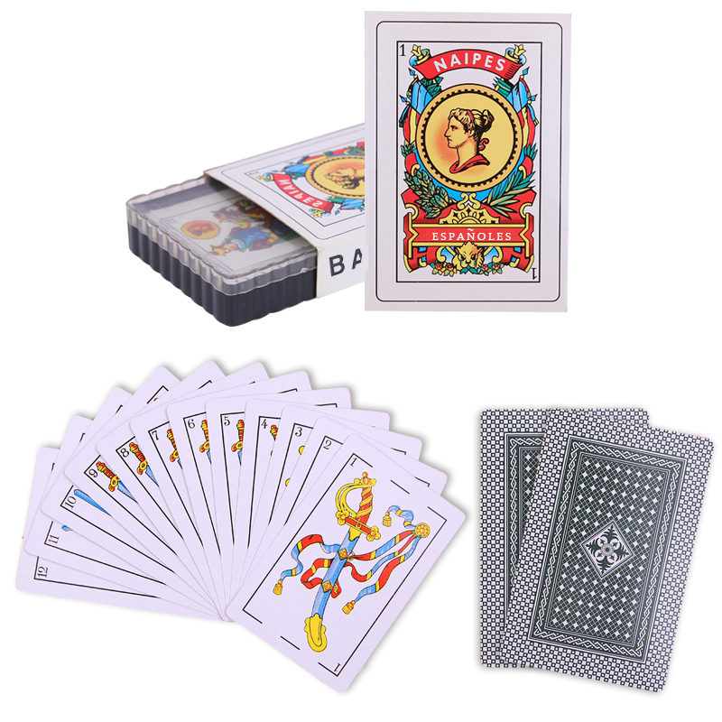 50pcs Spanish Plastic Playing Cards Waterproof Cards Durable Playing Cards Creative Gift New Plastic Poker Cards Game