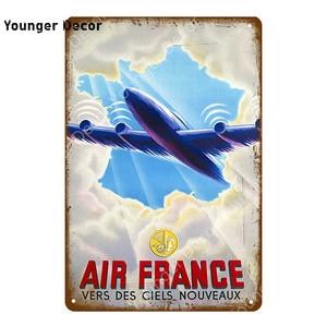 Модель самолета, металлическая вывеска, винтажный постер для девочек, американский, французский, темно синий, самолет, настенная живопись, паб, бар, домашний декор Таблички и знаки      АлиЭкспресс