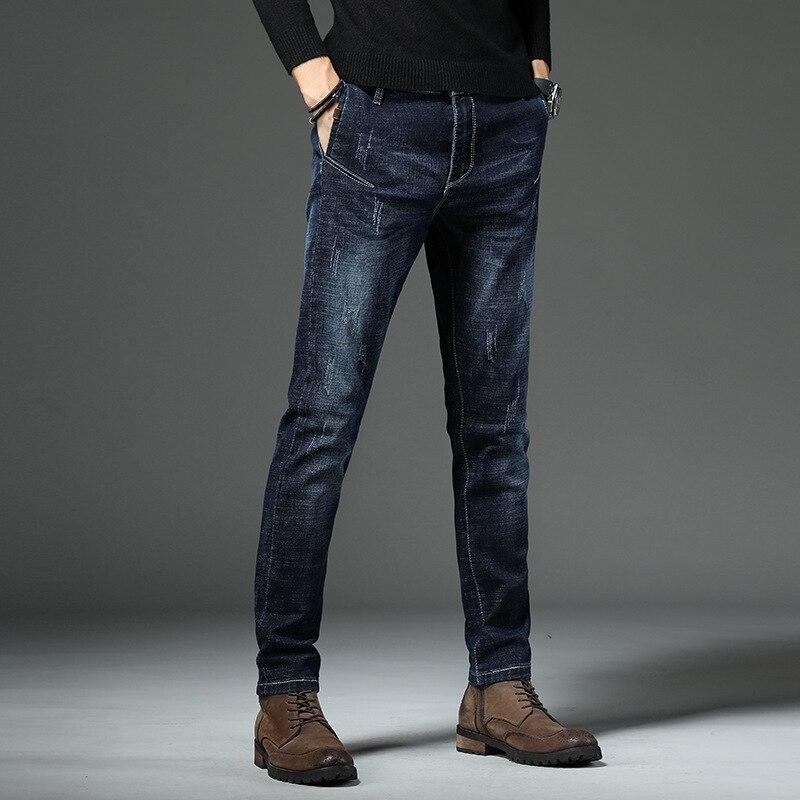 Autumn And Winter New Style Comfortable Versatile Fashion MEN'S Wear Long Pants Youth Korean-style Elasticity Slim Fit Pants Jea