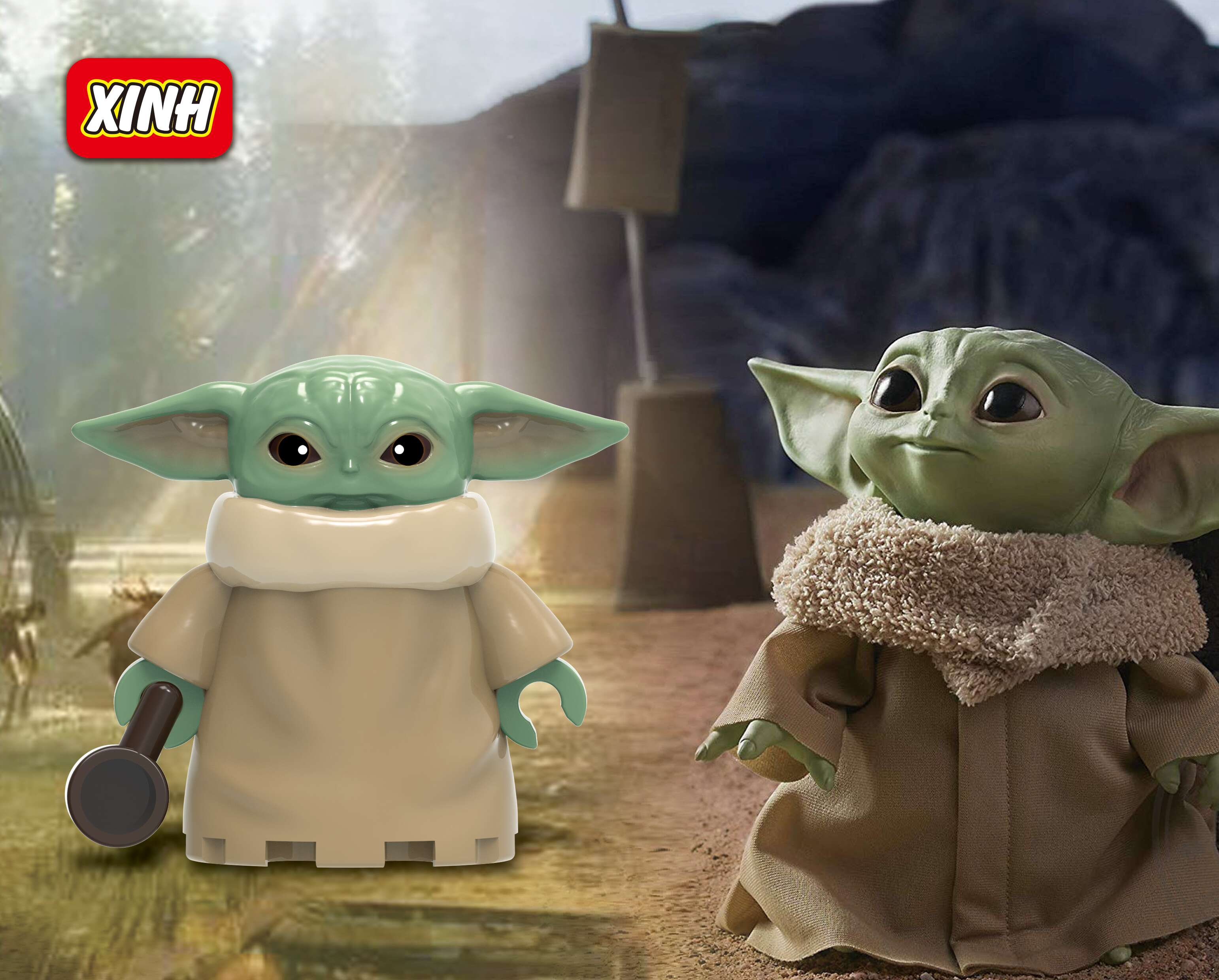 Baby Yoda  StarwarsThe Mandalorian Ray Empire Robot Knights Of Ren WM6085 Building Blocks Figures Toys For Children XH 1533