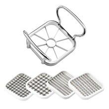 5 in 1 Kitchen Gadgets Stainless Steel Vegetable Fruit Cutter Assistant Shredders Potato Chips Apple Pear Slicer