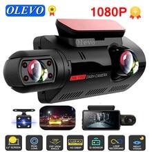 Olavo carro dvr fhd gravador de vídeo traço cam escondido gravador duplo dashcam 1080p gravador de visão noturna estacionamento g-sensor traço câmera