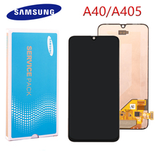 ORIGINAL AMOLED LCD for SAMSUNG Galaxy A40 LCD A405 Display Touch Screen Digitizer Assembly A40 2019 A405F LCD