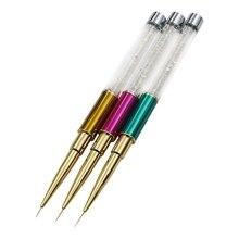 Профессиональный инструмент, кисточка для ногтей краска цветок Потяните Ручка для росписи лаком для ногтей клеевый слой ручка очень маленькая ручка дрель красочная ручка 3 шт./компл. Новинка