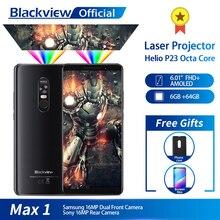 Blackview MAX 1 projecteur téléphone Portable AMOLED 4680mAh Android 8.1 Mini projecteur Portable Home cinéma 6GB + 64GB Smartphone MAX1