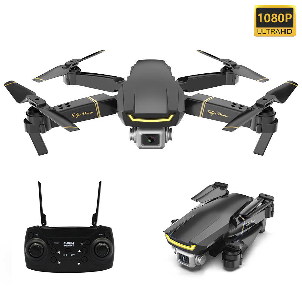 Global GW89 RC Drone met 1080P Camera HD Wifi FPV Gebaar Foto Video Hoogte Hold Opvouwbare RC Quadcopter voor beginner VS E58