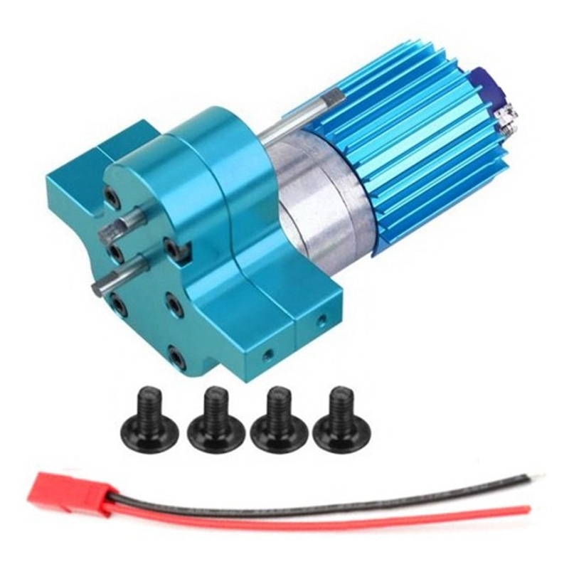Speed Change Gear Box Metal <font><b>Gearbox</b></font> with 370 Brush <font><b>Motor</b></font> Anodizing Treatment for Heatsink and Mount Base for WPL 1633 <font><b>RC</b></font> Car image