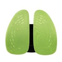 Car Seat Chair Back Massage Lumbar Support Waist Cushion Mesh Ventilate Cushion Pad For Office Home Car