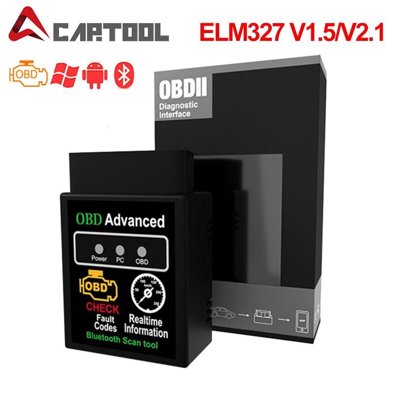 Автомобильный диагностический сканер ELM 327 в 1,5 wifi ELM327 Bluetooth HHOBD2 v1.5 Android автомобильный OBD 2 Автомобильный диагностический инструмент OBDII скане...