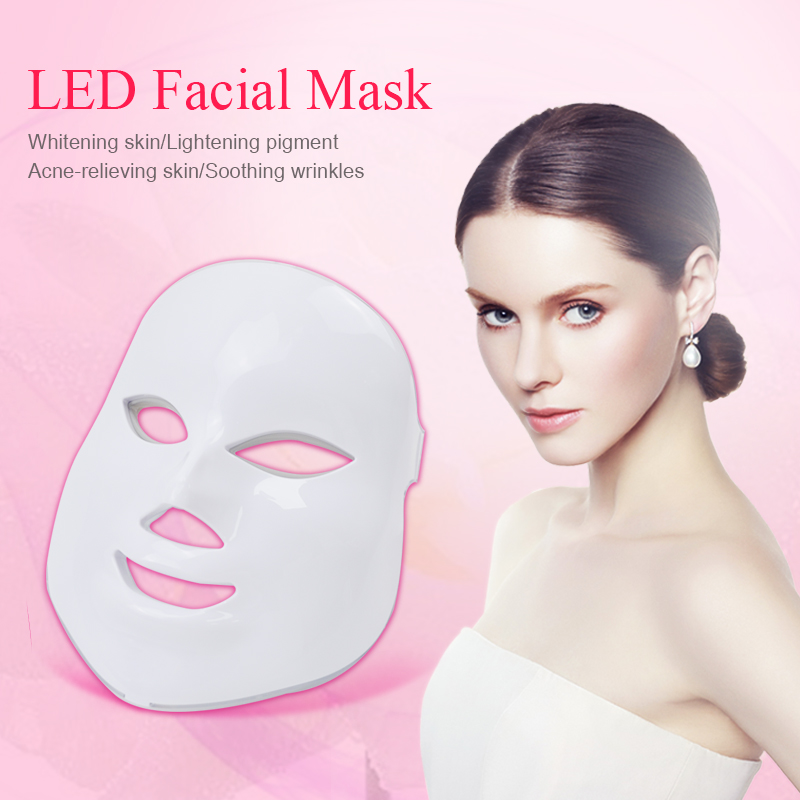 Image 3 - Licheng Led Facial Mask 7 Colors  Led Korean Photon Therapy Face Mask Machine Light Therapy Wrinkle Acne Skin Care Led Mask-in Face Skin Care Tools from Beauty & Health