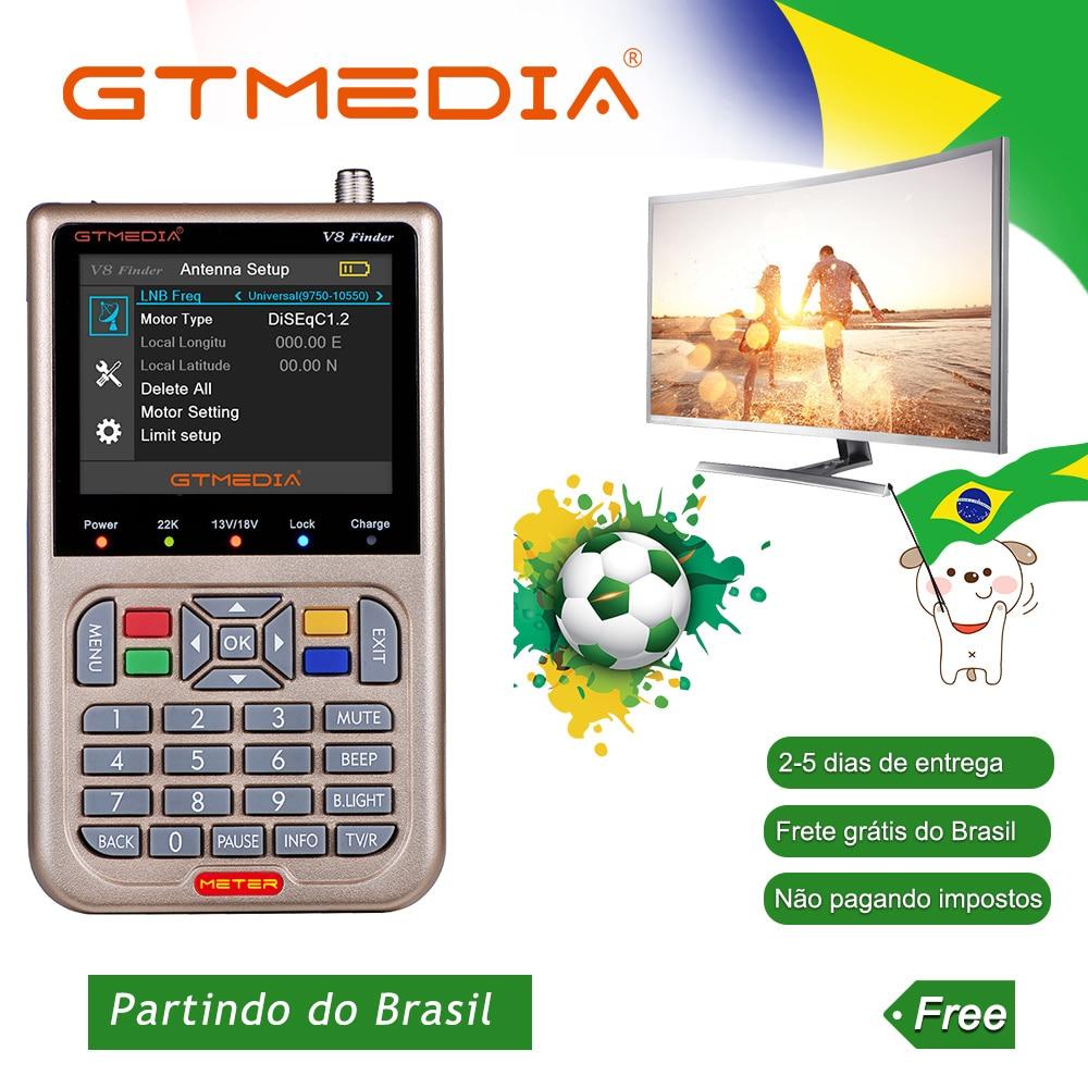 [Brasil]GTmedia V8 Satellite Finder Meter DVB-S2/S2X FTA Sat Link Digital PK WS 6933 Satelite Finder Meter Brasil Free Shipping