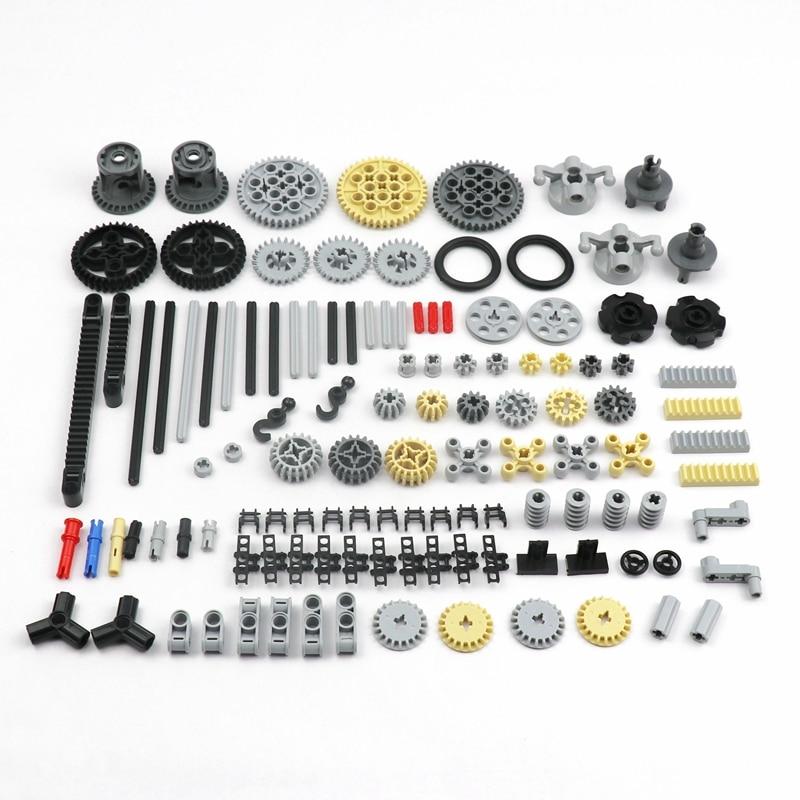 119PCS Bulk MOC Technic Parts Wheels Gear Cross Axle Pin Beams Connectors Car Replacements Compatible with Lego in Technic Block|Blocks| - AliExpress