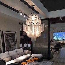 איטלקי עיצוב כסף אמנות נברשת הנדסת עיצוב יוקרה שרשרת ציצית שרשרת אלומיניום LED יפה נברשת תאורה