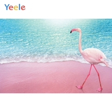 Yeele Vinyl Photophone Pink Beach Tropical Flamingo Summer Photo Backgrounds Photo Backdrops Photocall For Photo Studio Props