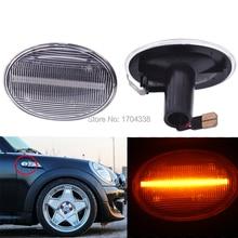 2x R55 R56 R57 R58 R59 Dynamic LED Side Marker Light Indicator For BMW MINI Cooper цена