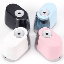 Tihoo Black Stationery Electric Pencil Sharpeners Battery With Container Battery Automatic Cute School Supplies vividcraft electric pencil sharpener student automatic pencil sharpeners for art painting stationery supplies without battery