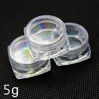 Envase cosmético de plástico transparente  tarro cuadrado de crema  tarro de muestra 5g