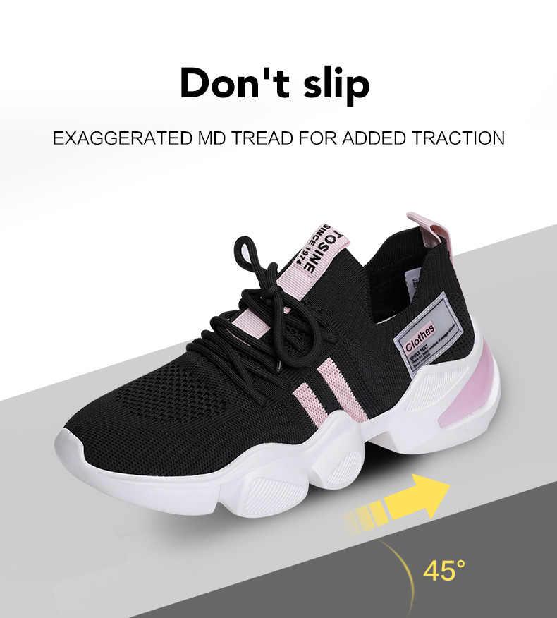 2020 여성 운동화 화이트 캐주얼 플랫폼 스니커즈 여름 메쉬 러닝 운동화 트레이너 여성 운동화 Vulcanize Shoes