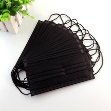 10/20Pcs Mask Mouth Face Mask Disposable Black Mouth Masks Mask Anti-Dust 3 Filter Earloop Activated Carb