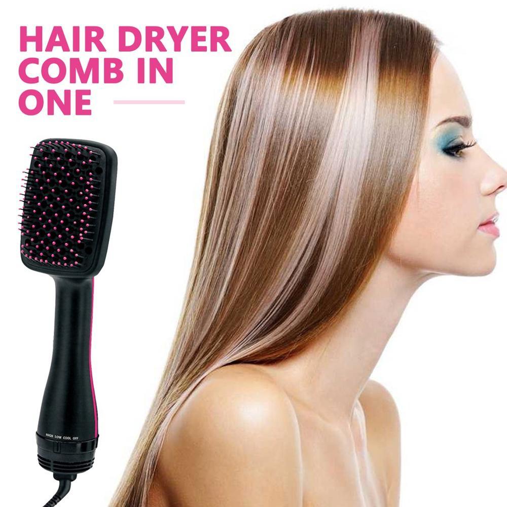 שיער שיער מייבש מסרק שני-in-one שיער מייבש רטוב ויבש לשימוש כפול שלילי יון ראש עיסוי שיער מסרק