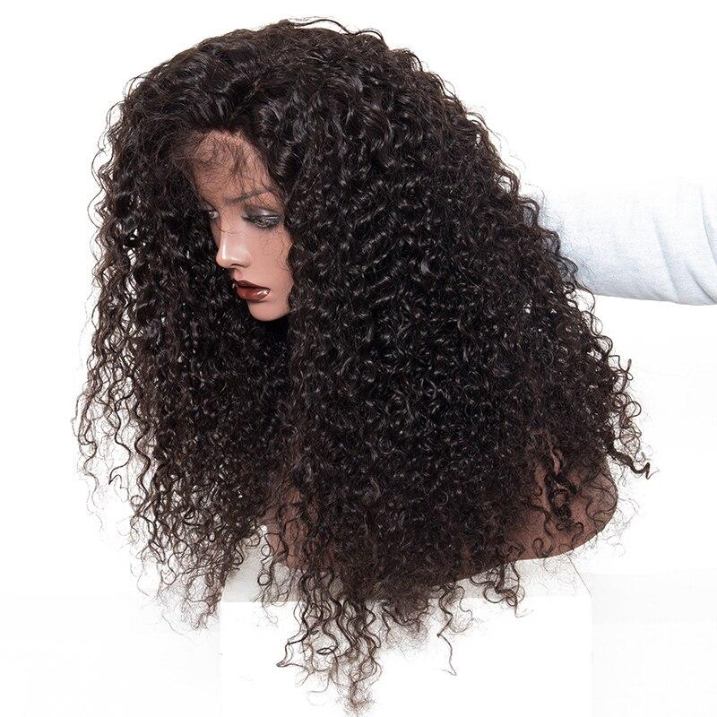 Кудрявый 360 кружевной фронтальный парик с детскими волосами глубокая волна Боб прозрачный 13х6 кружева фронта человеческих волос парики 370 п... - 2