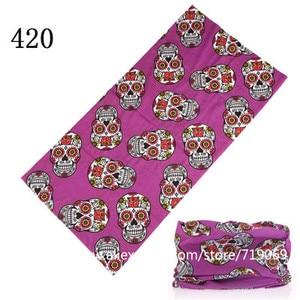 Bandana versatilidad de estilo de calavera para mujer, pañuelo de tubo, turbante sin costuras, diadema, turbante, Hijab, para la cabeza, novedad de 401 a 430