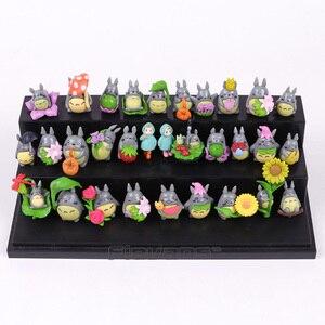 Image 2 - My Neighbor Totoro Kawaii Mini PVC Figures Brinquedo Pot Decoration Dolls Toys 30pcs/set
